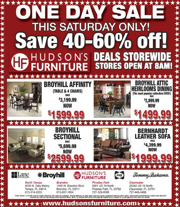 hudsons sale Furniture Deals